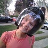 My cheeks fit in Heidijane's helmet!